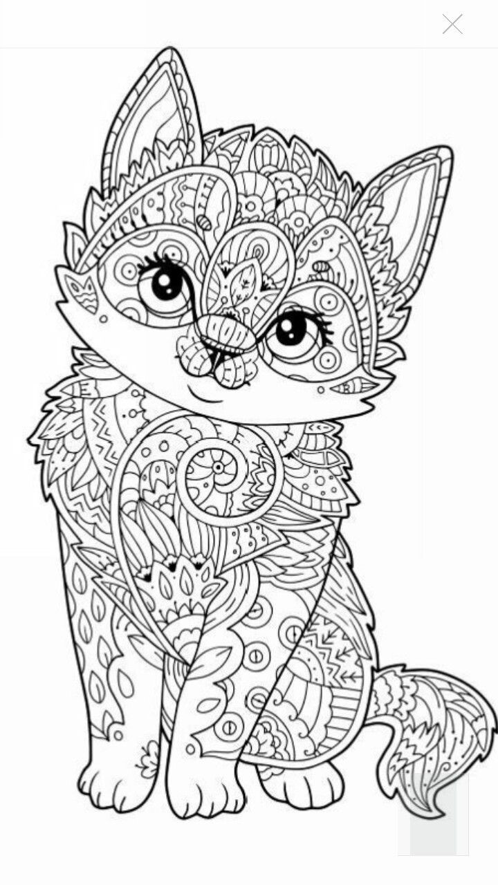 Cute Coloring Pages For Adults  630 best Adult Colouring Cats Dogs Zentangles images on