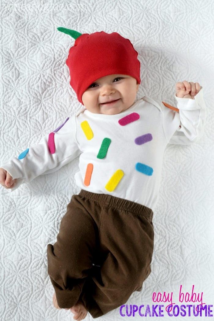 Cute DIY Costumes  Easy Cupcake Baby Costume Wine & Glue