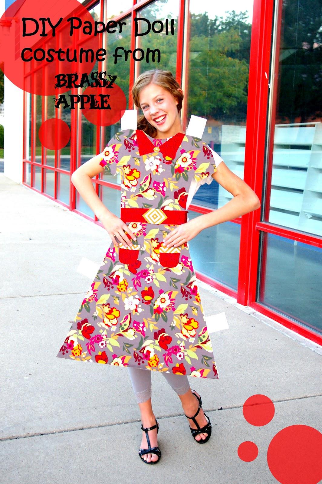 Cute DIY Costumes  DIY girls Halloween Costume – paper doll