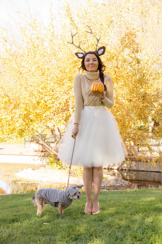 Cute DIY Costumes  Woodland deer and lumberjack couples costume
