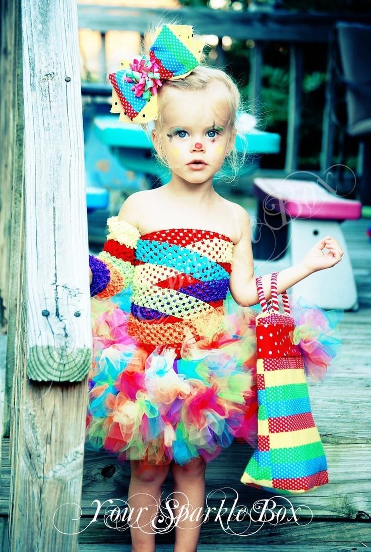 Cute DIY Costumes  Clown Costume Petti Tutu set plus legwarmers and bow via