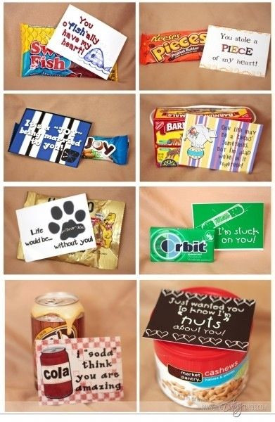 "Cute Gift Ideas For Your Boyfriend  DIY party favor ideas ""just wanted you to know how NUTS"