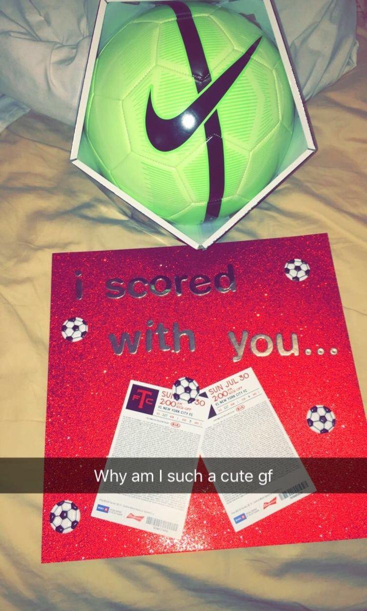 Cute Gift Ideas For Your Girlfriend  Best 25 Soccer boyfriend ideas on Pinterest