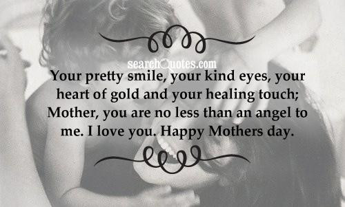 Cute Mothers Day Quotes  Cute For Your Mother Quotes QuotesGram