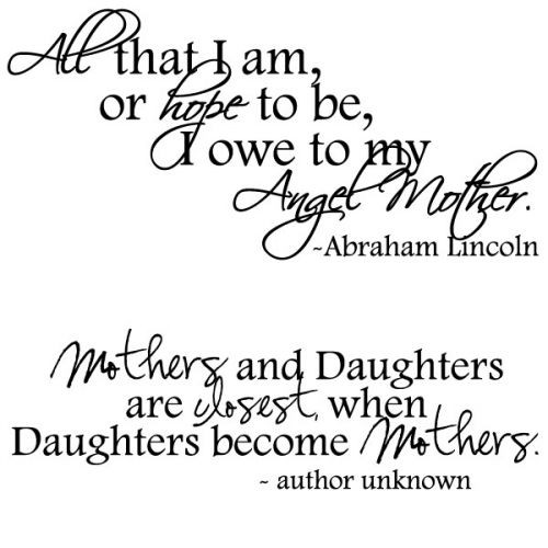 Daughter Quotes From Mother  MOTHERS DAY QUOTES FROM TEENAGE DAUGHTER TUMBLR image