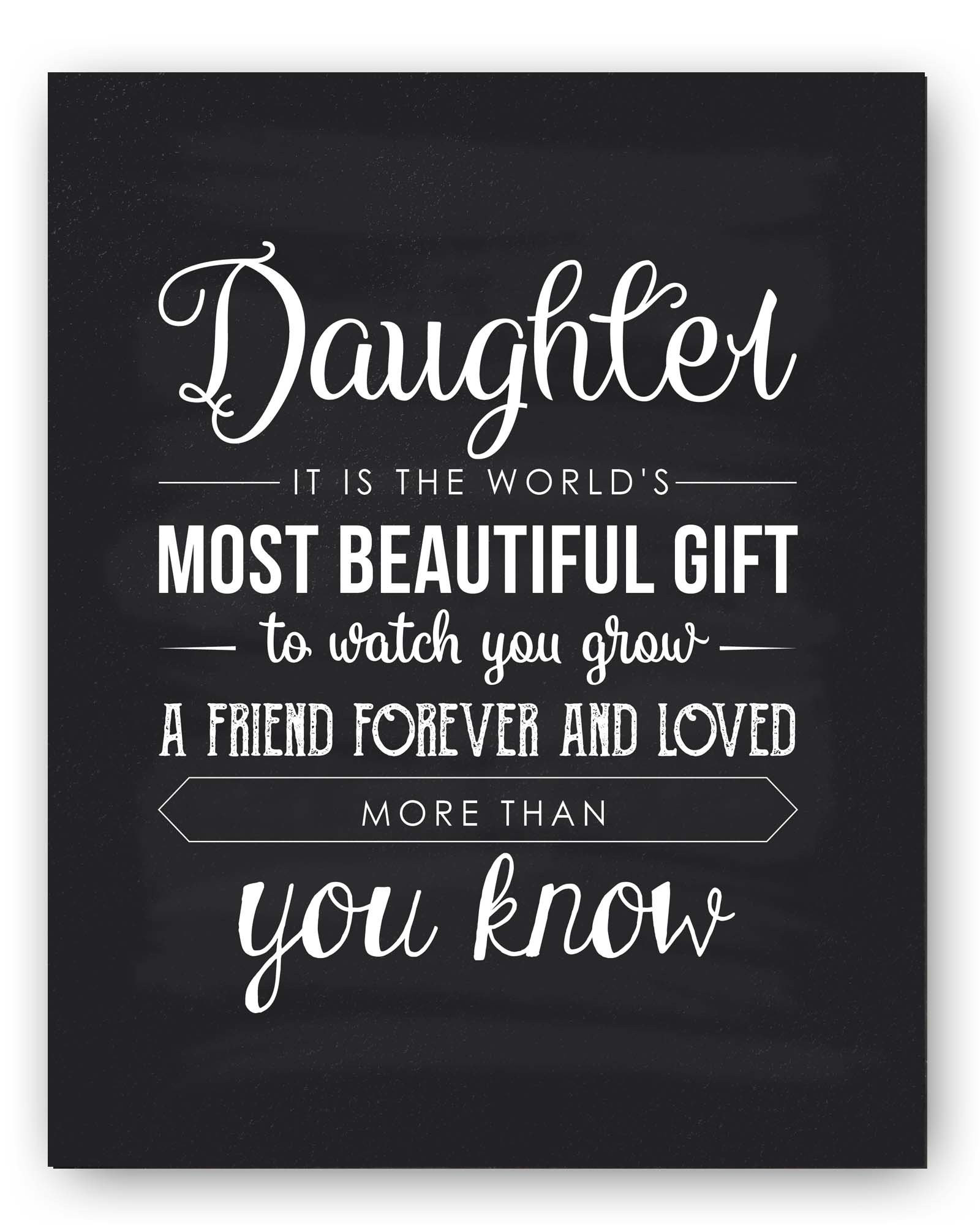 Daughter Quotes From Mother  Amazon Daughter Gift Daughter Quote Sign Unique