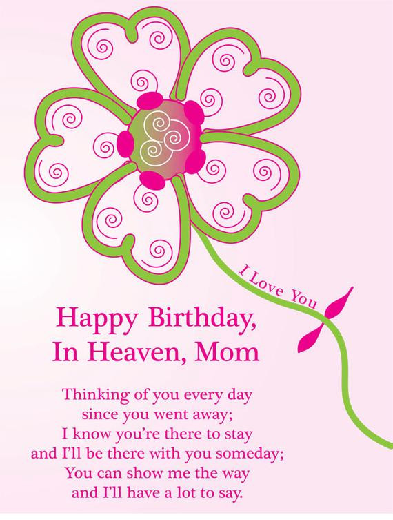 Deceased Mother Birthday Quotes  Items similar to Happy Birthday Card To A Deceased Mom in