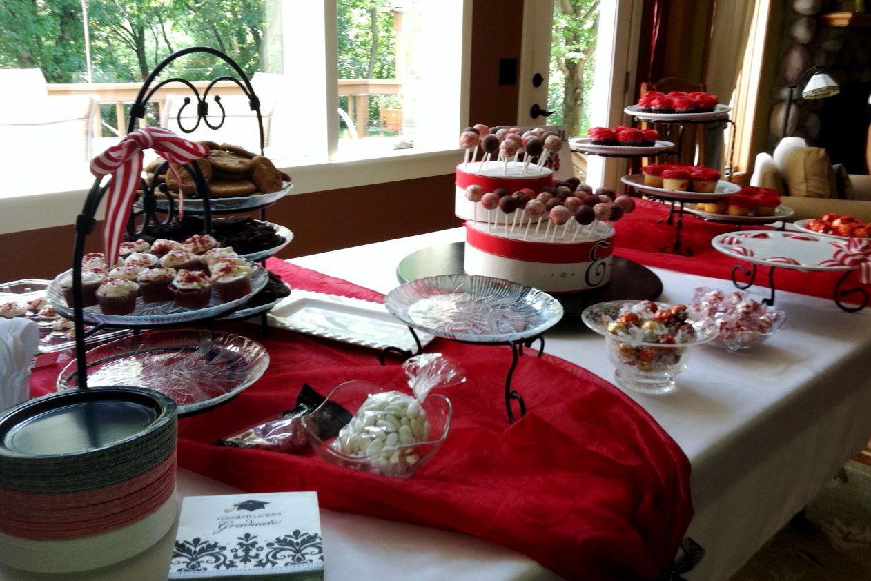 Dessert Table Ideas For Graduation Party  Graduation party dessert table Grad Ideas