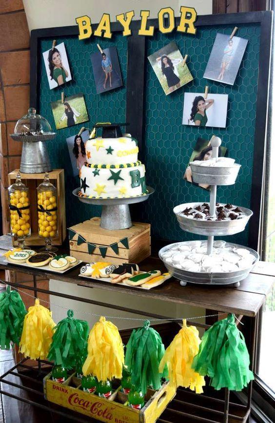 Dessert Table Ideas For Graduation Party  Baylor University Graduation End of School Party Ideas