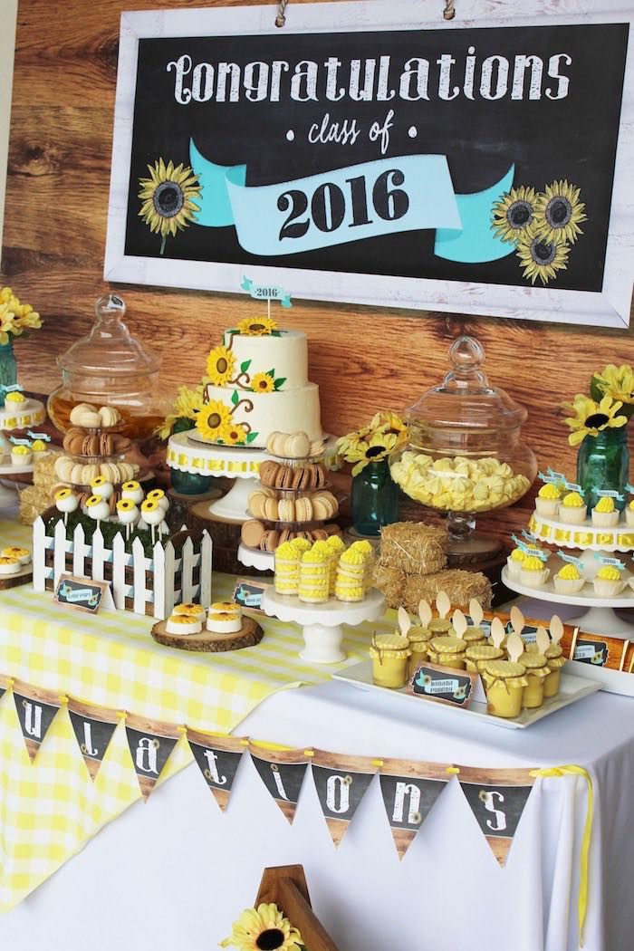 Dessert Table Ideas For Graduation Party  Kara s Party Ideas Country Fair Graduation Party