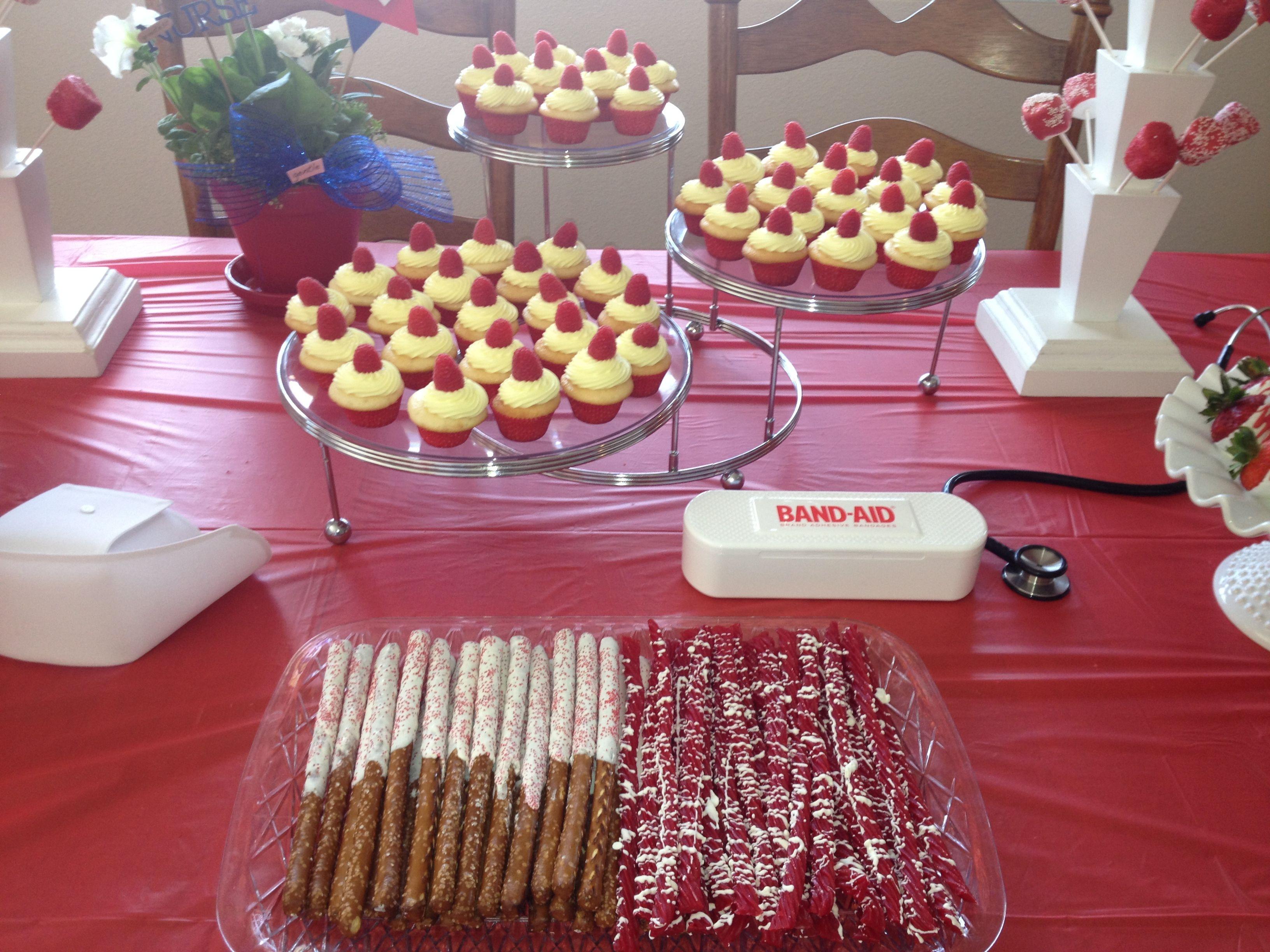 Dessert Table Ideas For Graduation Party  Dessert table for nursing graduation party