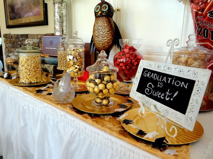 Dessert Table Ideas For Graduation Party  117 best Graduation Candy Dessert Buffet images on