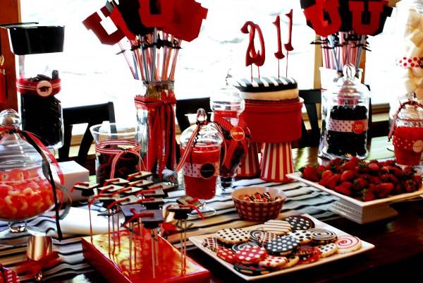Dessert Table Ideas For Graduation Party  Graduation Party Dessert Table and Candy Buffet Ideas