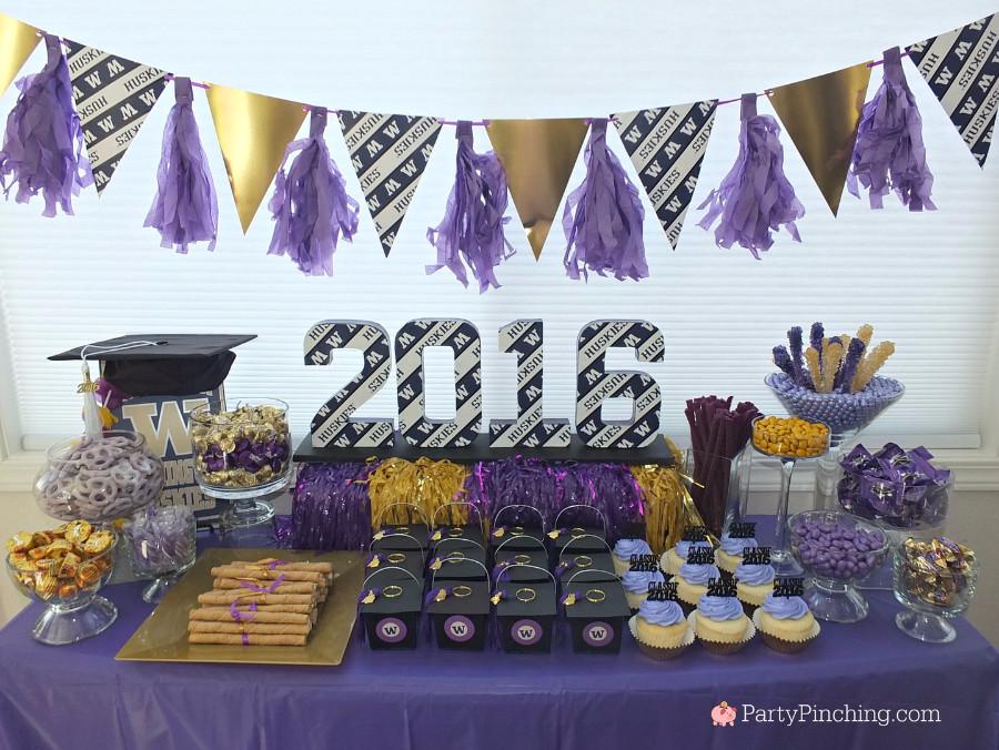 Dessert Table Ideas For Graduation Party  college graduation party college graduation dessert table