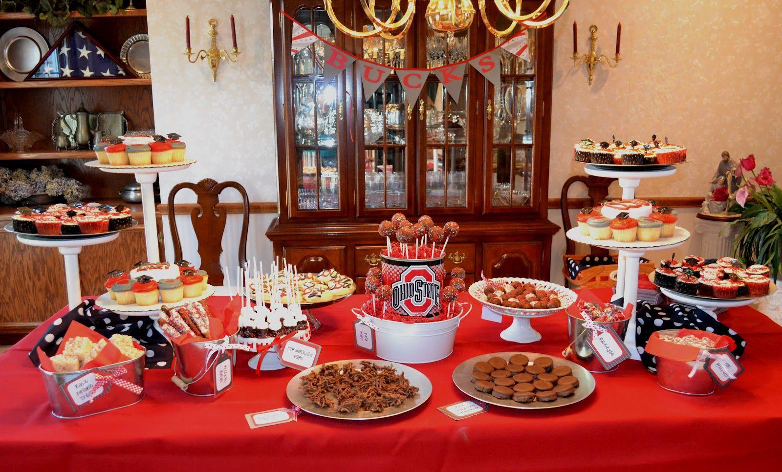 Dessert Table Ideas For Graduation Party  Ohio State Dessert Table Graduation