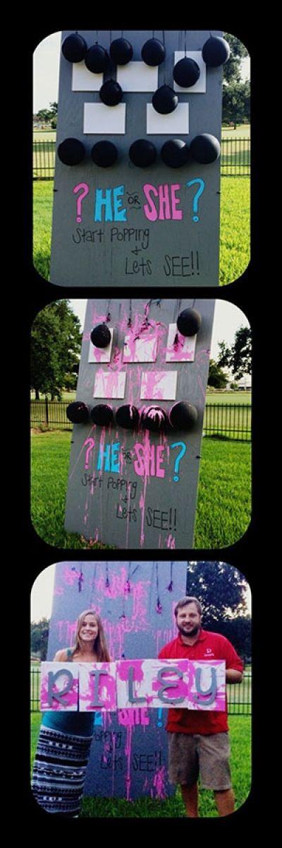 Different Gender Reveal Party Ideas  Best 25 Gender reveal paint ideas on Pinterest
