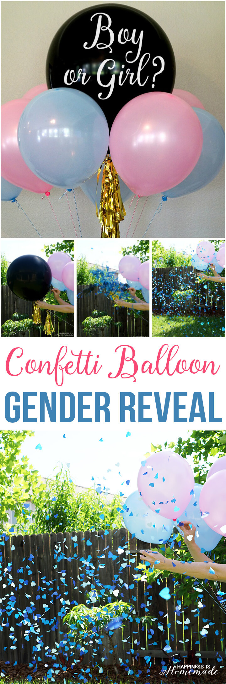 Different Gender Reveal Party Ideas  Baby Gender Reveal Party Ideas Happiness is Homemade
