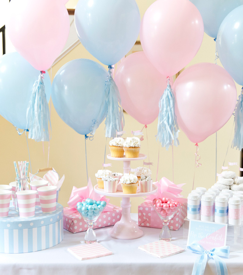 Different Gender Reveal Party Ideas  Boy or Girl Blue Pink Gender Reveal Party