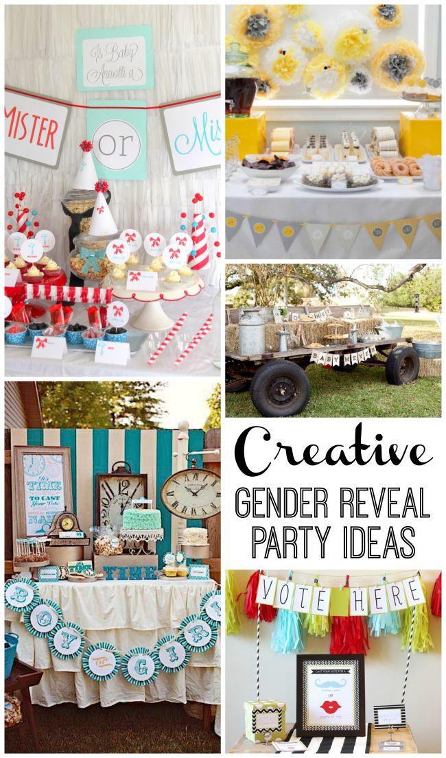 Different Gender Reveal Party Ideas  1000 Unique Gender Reveal Ideas on Pinterest