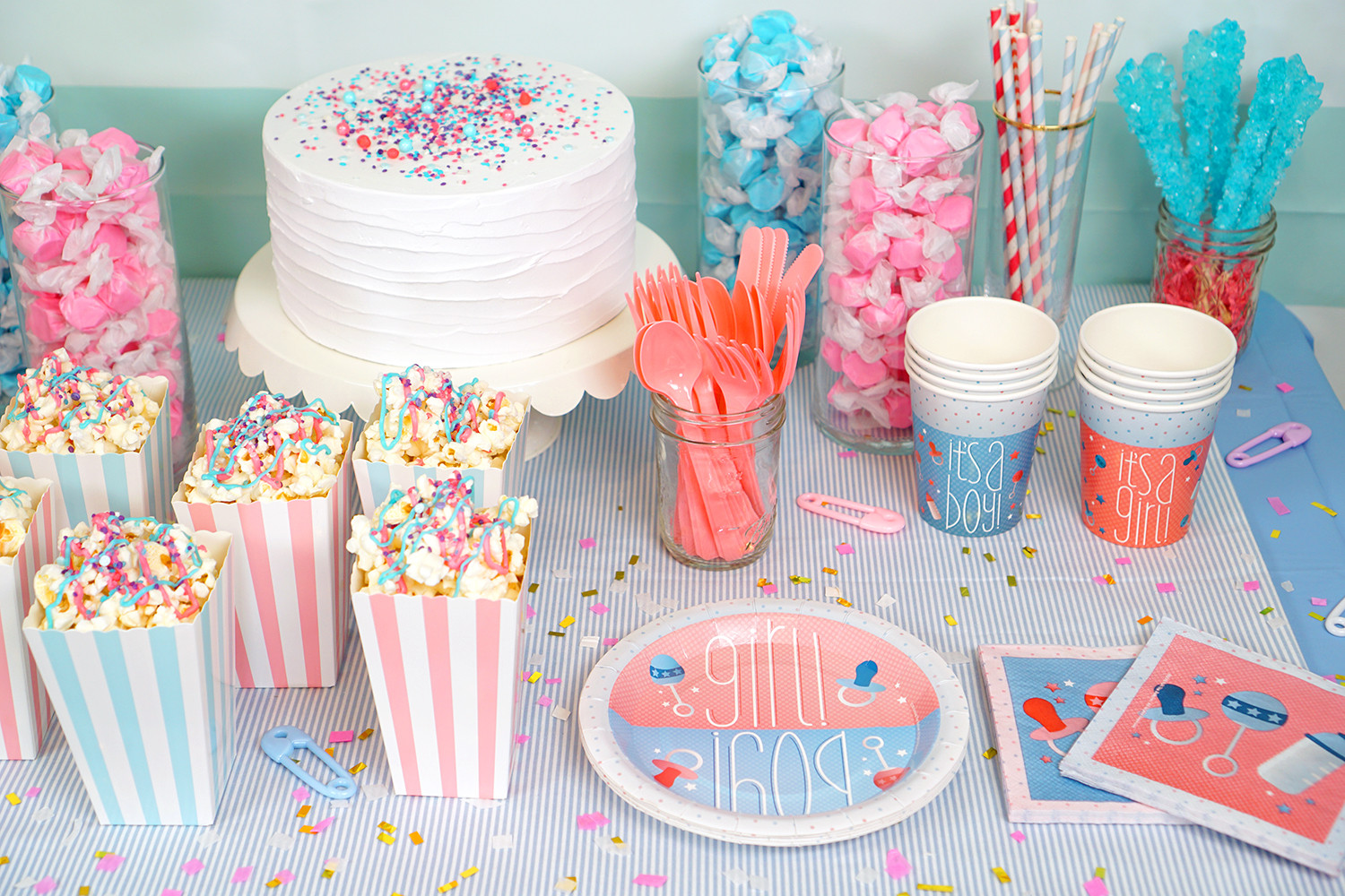 Different Gender Reveal Party Ideas  Gender Reveal Party Ideas Happiness is Homemade