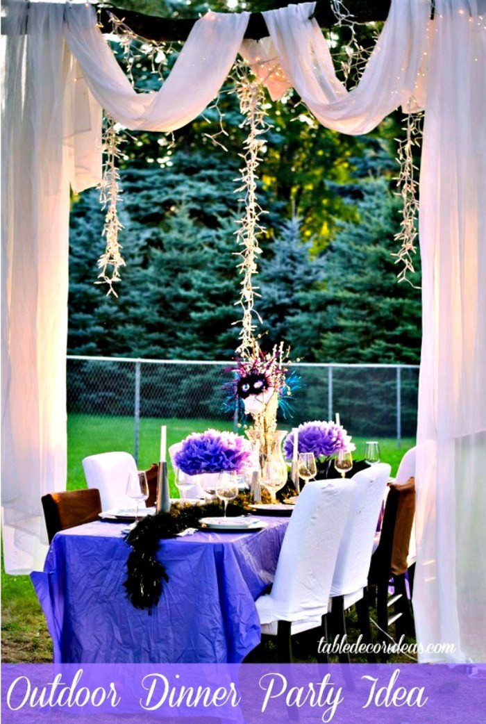 Dinner Party Decorating Ideas  Elegant Outside Table Decor Idea Dinner Party