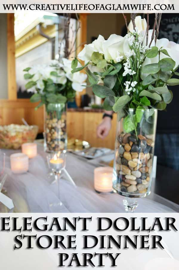Dinner Party Decorating Ideas  Elegant Dollar Store Dinner Party DIY Super easy