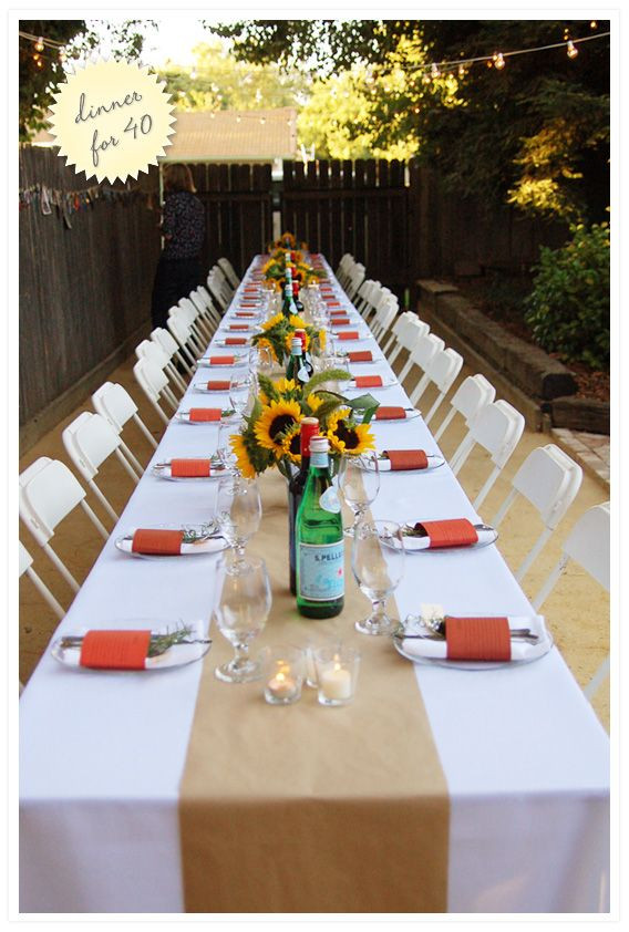 Dinner Party Decorating Ideas  25 best ideas about Outdoor Dinner Parties on Pinterest