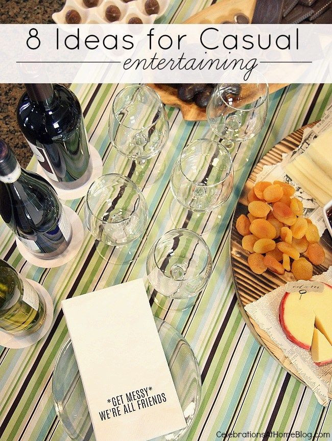 Dinner Party For 8 Menu Ideas  BEST Ideas for Casual Entertaining