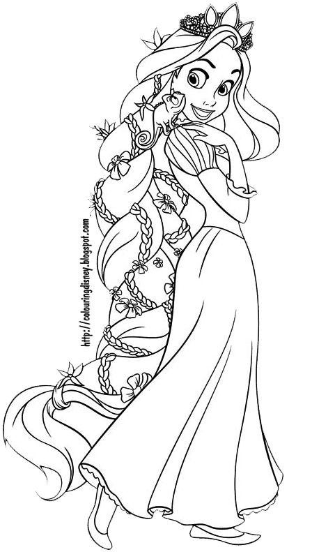 Disney Coloring Books For Kids  DISNEY COLORING PAGES TANGLED COLORING PAGES OF RAPUNZEL