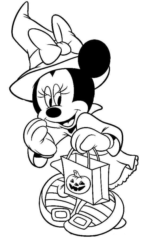 Disney Coloring Books For Kids  Disney Halloween Minnie Coloring Sheet for Kids Picture 7