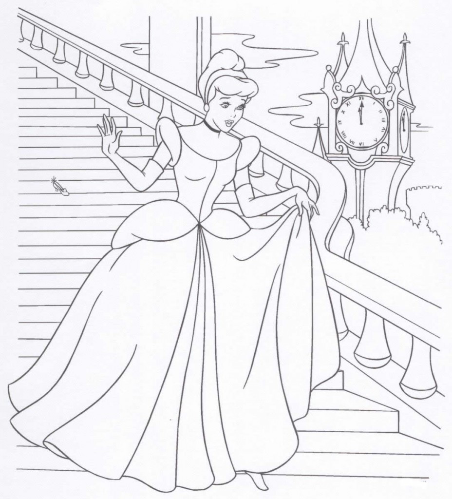 Disney Coloring Books For Kids  Free Printable Disney Princess Coloring Pages For Kids