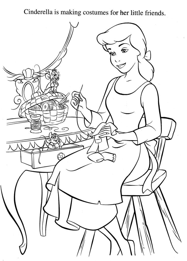 Disney Coloring Books For Kids  Cinderella Coloring Pages