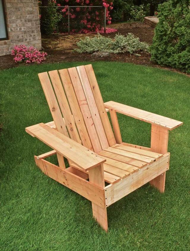 DIY Adirondack Chairs Plans  DIY Pallet Adirondack Chair Step by Step Tutorial