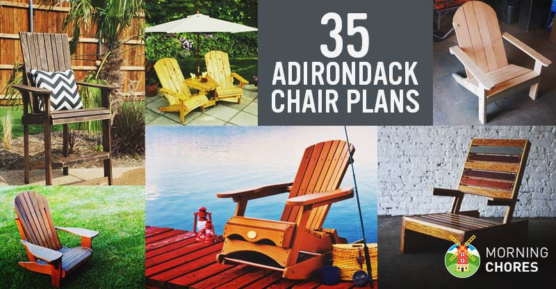 DIY Adirondack Chairs Plans  35 Free DIY Adirondack Chair Plans & Ideas for Relaxing in