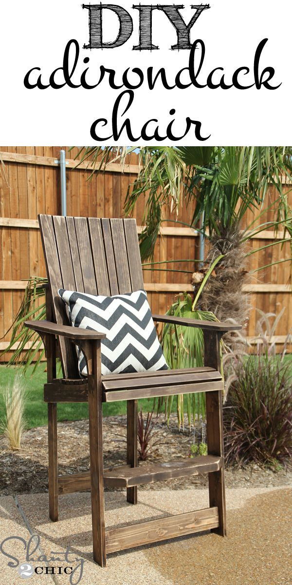 DIY Adirondack Chairs Plans  Bar Height Adirondack Chair Plans WoodWorking Projects