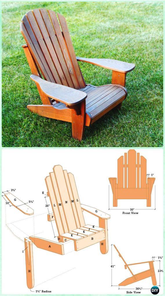DIY Adirondack Chairs Plans  DIY Adirondack Chair Free Plans Instructions
