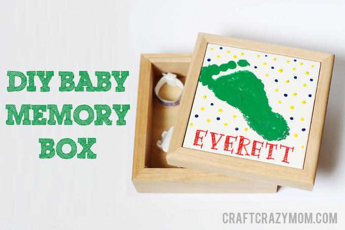 DIY Baby Box  diy tutorial diy baby memory box See Vanessa Craft
