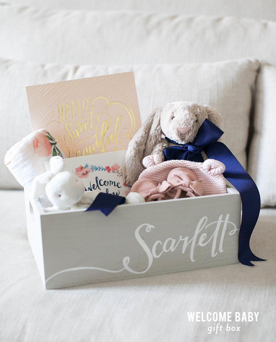 DIY Baby Box  Wel e Baby Gift Box Favors & Gifts