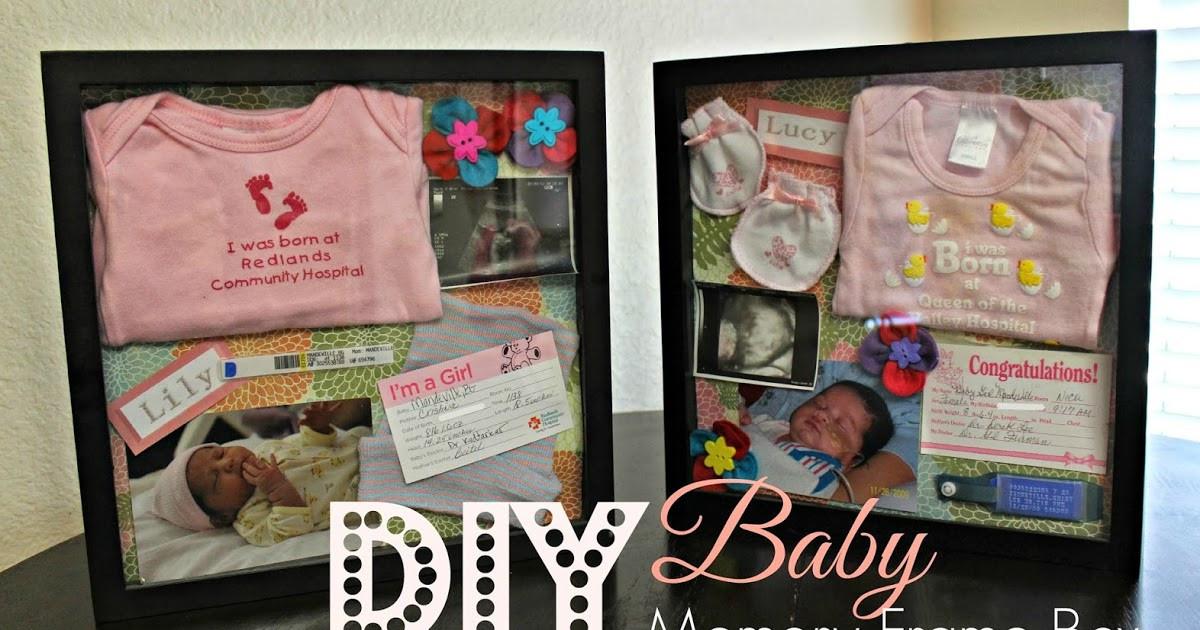 DIY Baby Box  A Bountiful Love DIY Baby Memory Frame Box