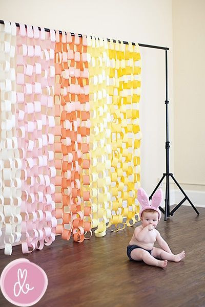 DIY Baby Shower Backdrop  DIY booth backdrop Choose the color of the