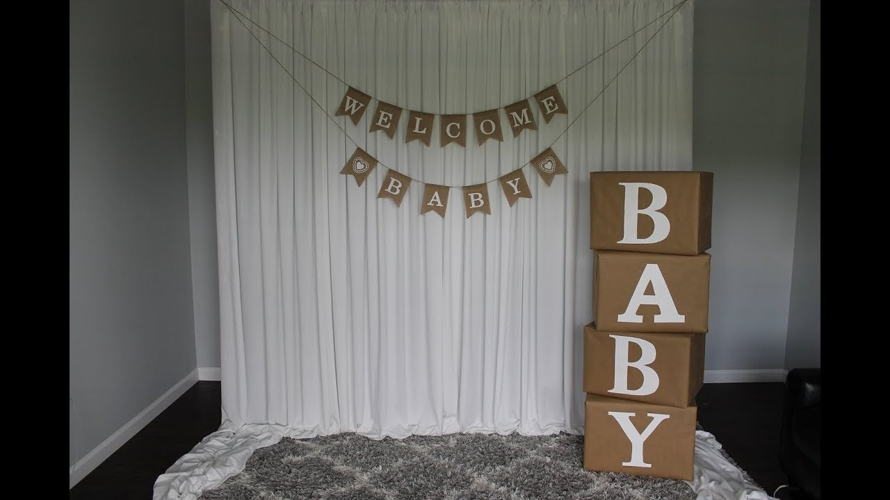 DIY Baby Shower Backdrop  Baby Shower Backdrop DIY