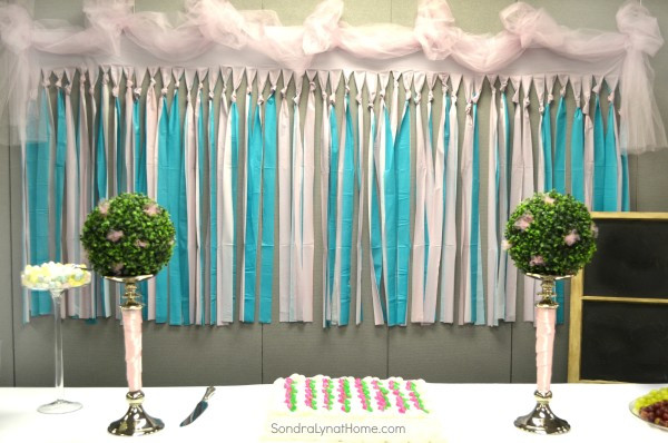 DIY Baby Shower Backdrop  Decorating for a Baby Shower Sondra Lyn at Home