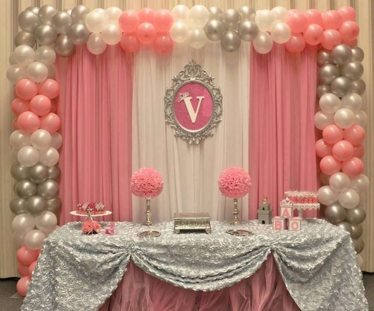 DIY Baby Shower Backdrop  Princess Baby Shower Party Ideas