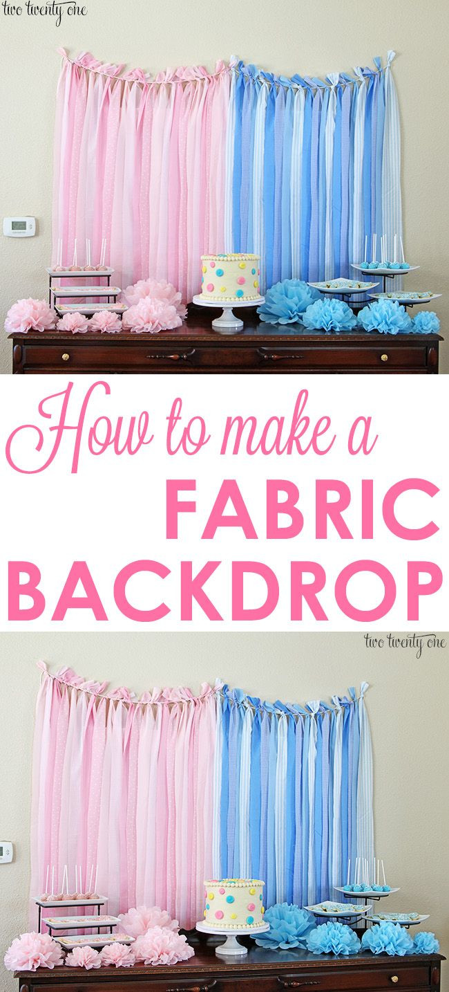 DIY Baby Shower Backdrop  How To Make A Fabric Backdrop