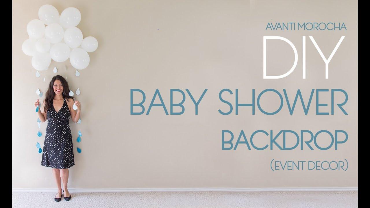 DIY Baby Shower Backdrop  DIY Baby Shower Backdrop
