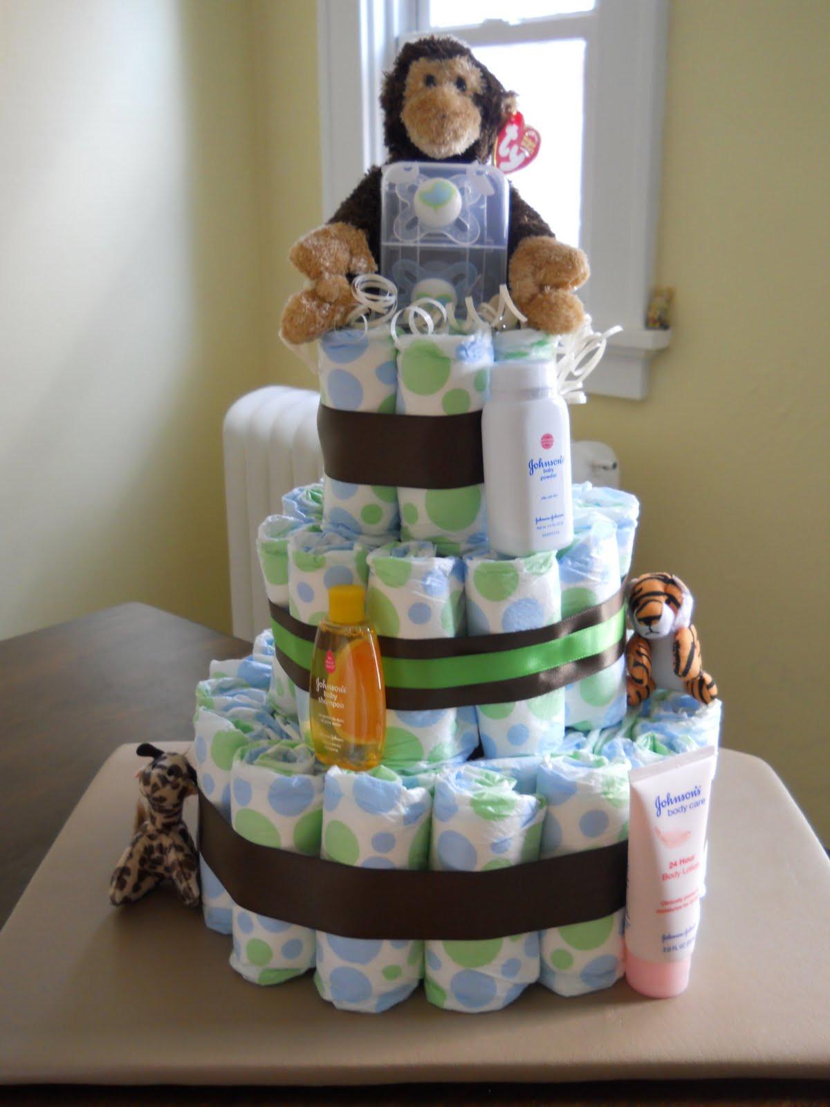 DIY Baby Shower Cakes  Be ing Mrs Juju DIY Diaper Cake
