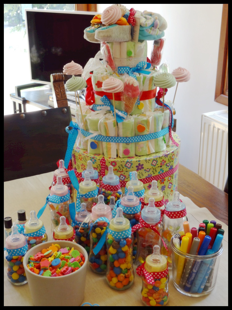 DIY Baby Shower Cakes  Do It Yourself Party Decorations – Diaper Cake – yoggi s way