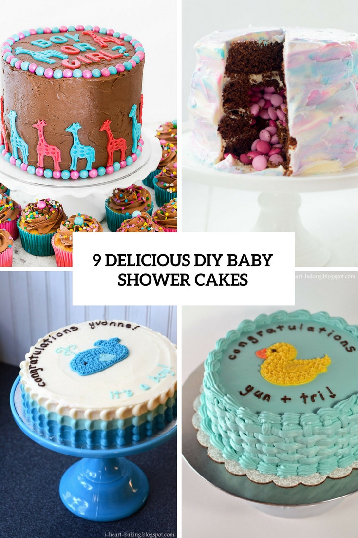 DIY Baby Shower Cakes  9 Delicious DIY Baby Shower Cakes Shelterness