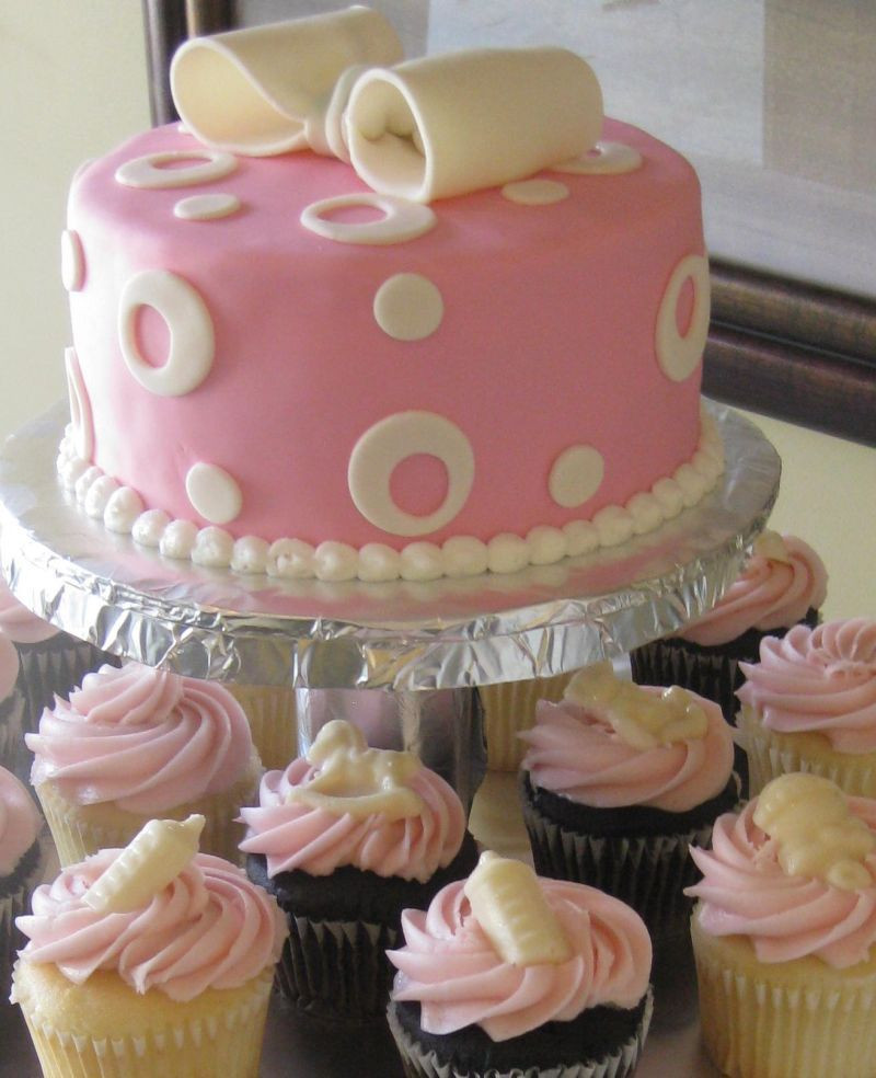 DIY Baby Shower Cakes  simple homemade baby shower cakes for girls RECIPES