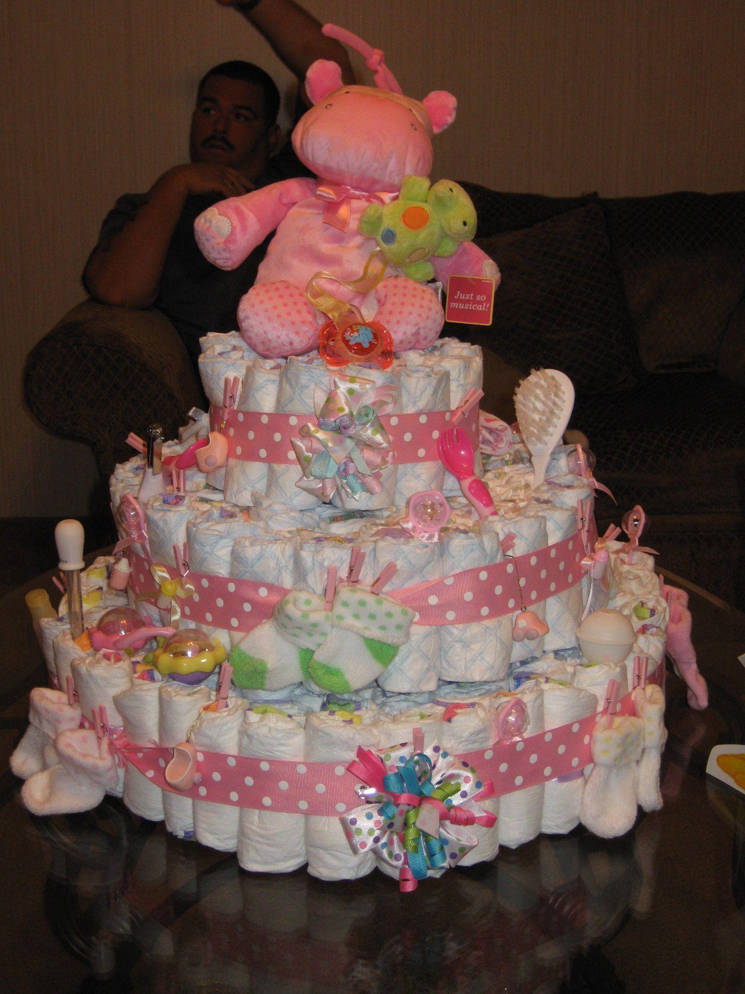 DIY Baby Shower Cakes  How To Make a DIY Diaper Cake Diaper Cakes